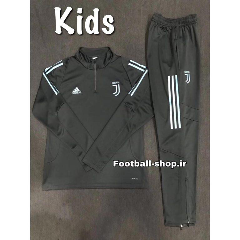 ست سویشرت شلوار نیم زیپ خاکستری(بچه گانه)یوونتوس2020-Adidas