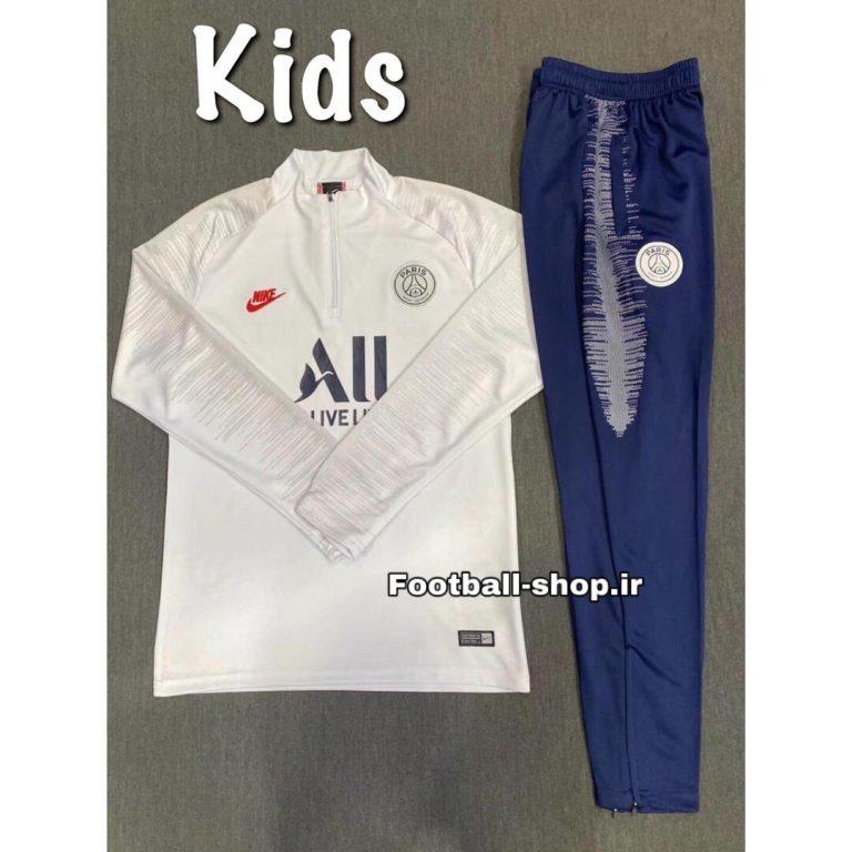 سویشرت شلوار سفید سرمه ای (بچه گانه) پاری سن ژرمن 2020-Nike