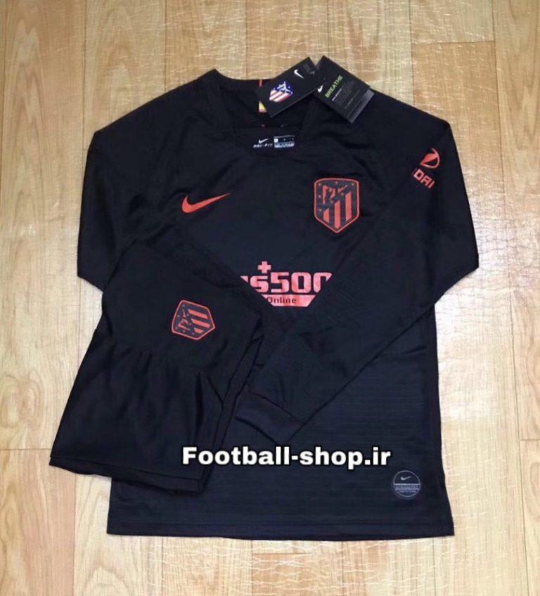 پیراهن و شورت دوم آستین بلند اورجینال 2019-2020 اتلتیکومادرید-Nike