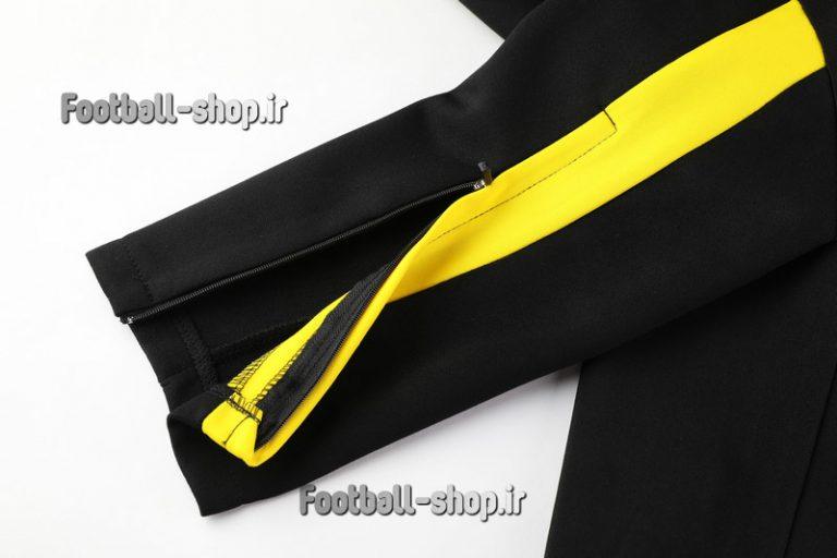 گرمکن شلوار حرفه ای مشکی زرد اریجینال دورتموند 2020-Puma