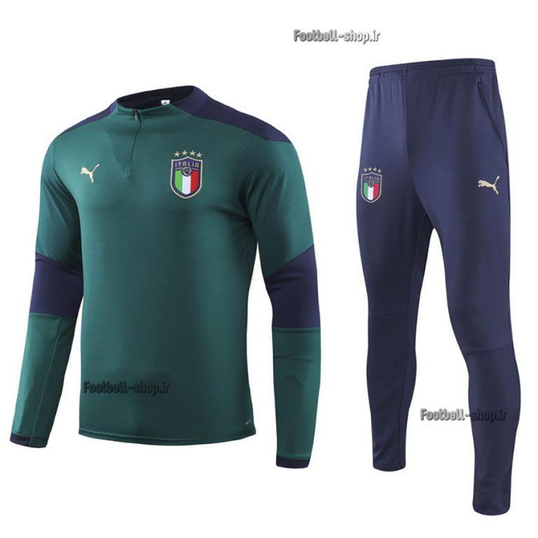سویشرت شلوار حرفه ای سبز سرمه ای 2020 اورجینال ایتالیا-Puma