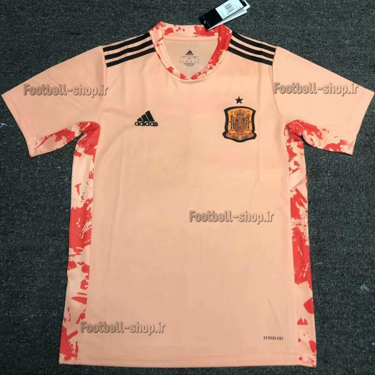 پیراهن گلری آستین کوتاه اورجینال یورو 2021 اسپانیا-Adidas