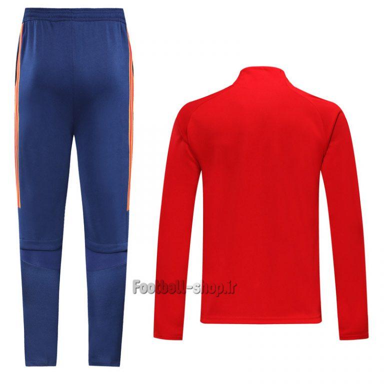 گرمکن شلوار قرمز سرمه ای اورجینال یورو 2021 اسپانیا-Adidas