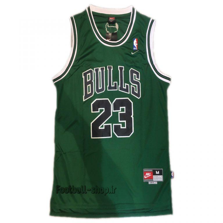 رکابی سبز شیکاگو بولز| مایکل جردن 23 ,NBA JERSEY اصل NIKE