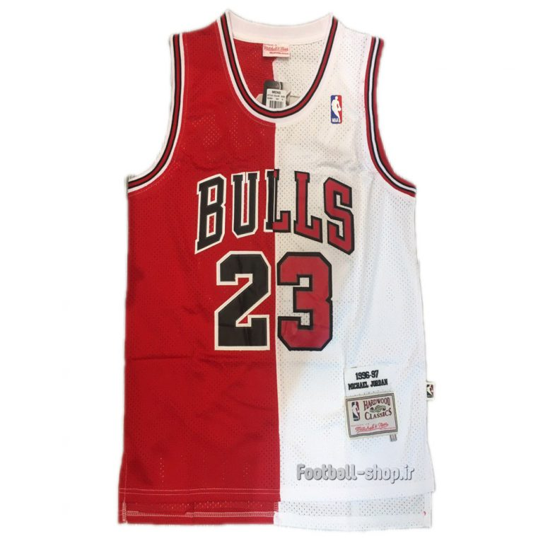 پیراهن قرمز سفید شیکاگو بولز| مایکل جردن 23 ,NBA JERSEY اصل