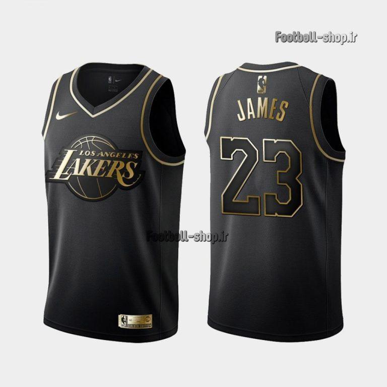 پیراهن مشکی لیکرز 2020  لبران جیمز 23 ,NBA JERSEY اصل NIKE