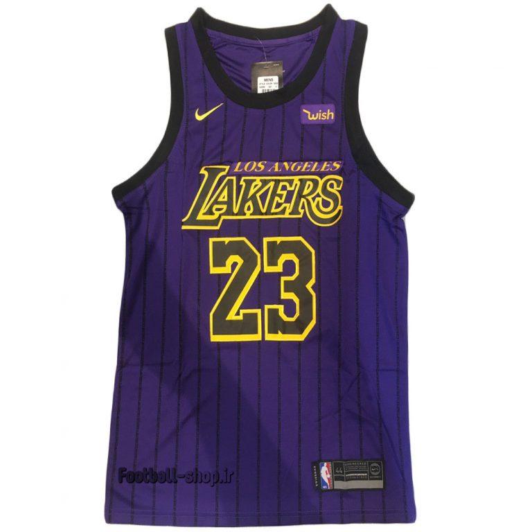 پیراهن بنفش لس آنجلس لیکرز 2020| لبران جیمز 23 NBA JERSEY اصل NIKE