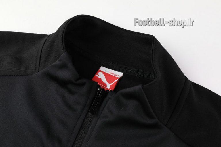 گرمکن شلوار حرفه ای مشکی قرمز اریجینال میلان 2020-Puma