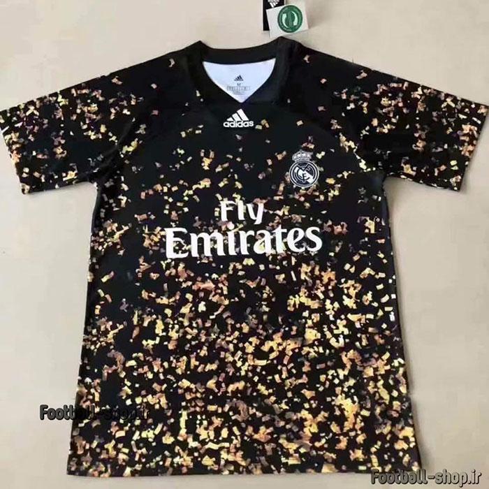 لباس چهارم(فیفا) مشکی طلایی اورجینال رئال مادرید 2020-Adidas