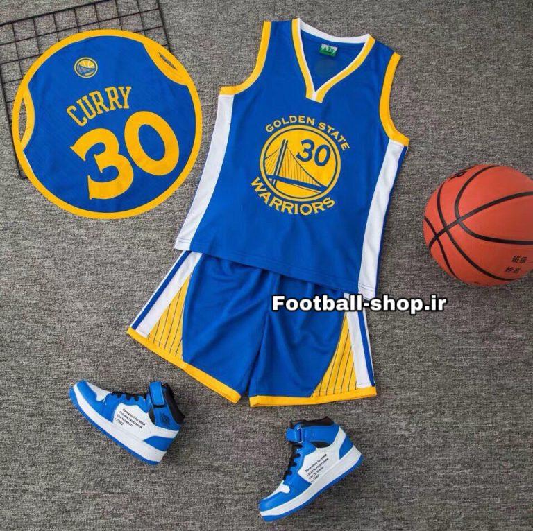 رکابی شورت آبی بسکتبال +A (بچه گانه) گلدن استیت | استیفن کری 30