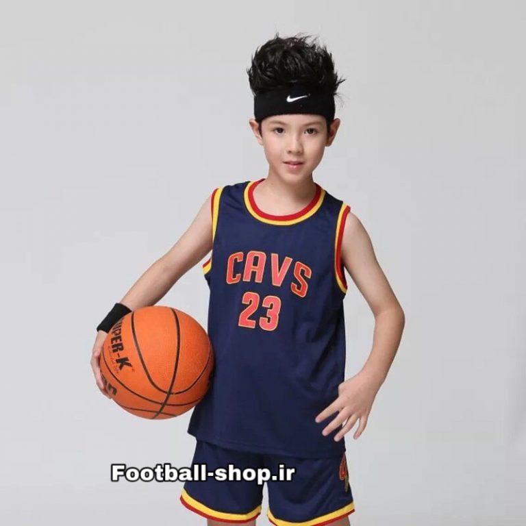 رکابی شورت سرمه ای بسکتبال +A (بچه گانه) کیلیولند | لبران جیمز 23