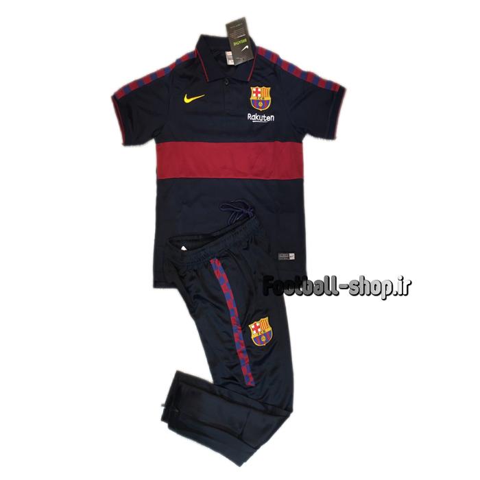 پولوشرت شلوار سرمه ای اورجینال 2020 بارسلونا-Nike
