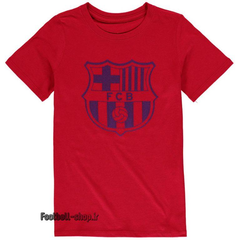 پیراهن هواداری اریجینال قرمز با لوگوی سرمه ای بارسلونا-Nike