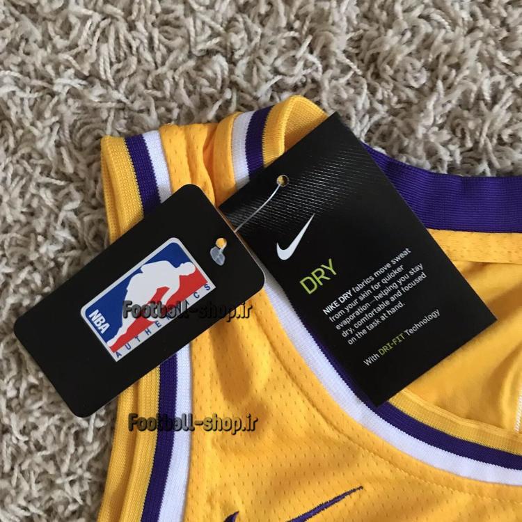 رکابی بسکتبال زرد لس آنجلس لیکرز 2020| لبران جیمز 6 ,NBA JERSEY اصل NIKE