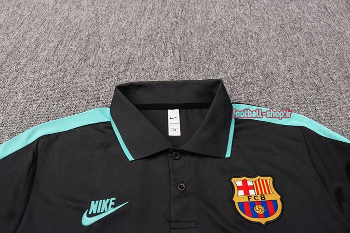 پولوشرت مشکی آبی اورجینال +A درجه یک 2020 بارسلونا-Nike