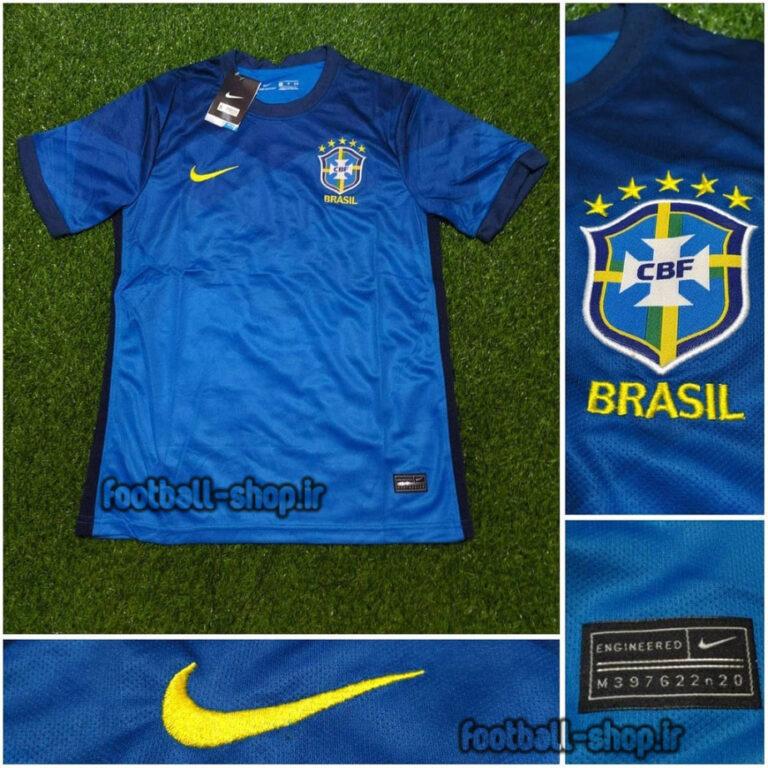 لباس دوم آبی اریجینال درجه یک +A برزیل 2021-Nike