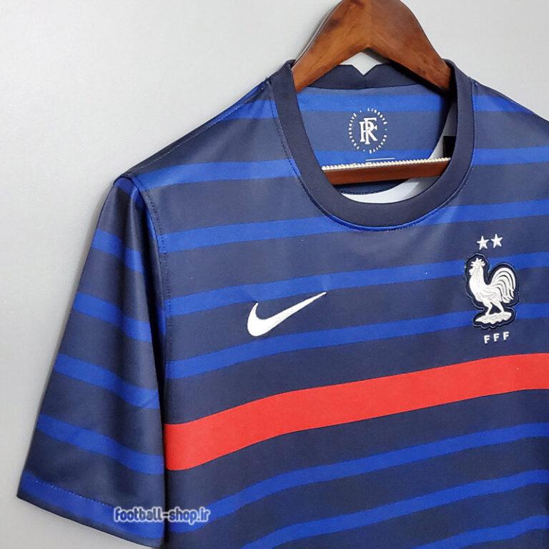 لباس اول فرانسه سرمه ای اریجینال +A یورو 2020-Nike