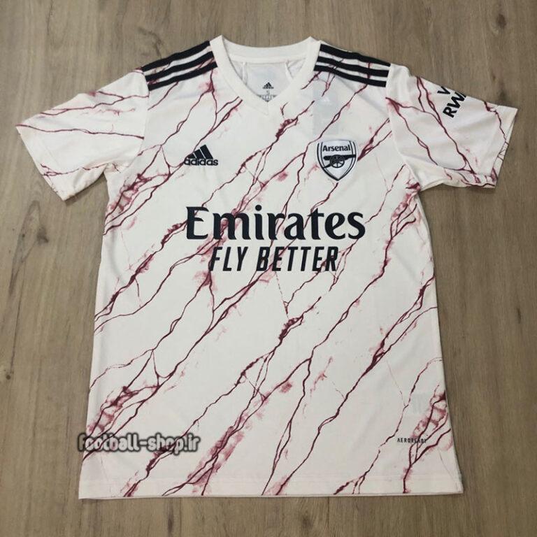 لباس دوم سفید اریجینال درجه یک +A آرسنال2021-2020-Adidas