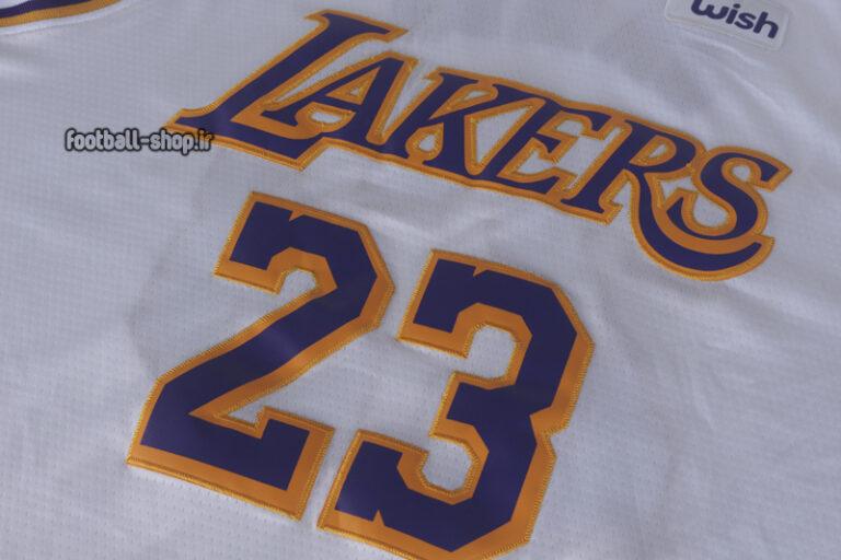 رکابی بسکتبال سفید لس آنجلس لیکرز| لبران جیمز,آپلاس اصل Nike