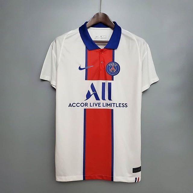 لباس دوم سفید اریجینال درجه یک آ پلاس پاری سن ژرمن 2021-Nike