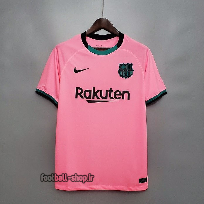 لباس سوم صورتی اریجینال درجه یک آ پلاس بارسلونا 2021-Nike