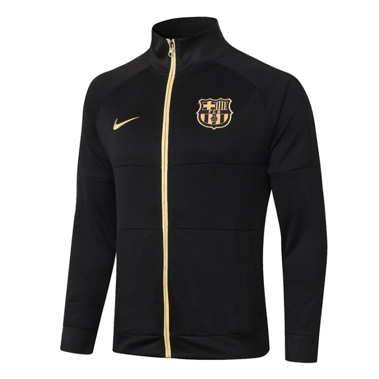 ست گرمکن شلوار مشکی طلایی +A اریجینال 2021 بارسلونا-Nike