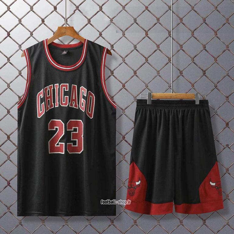 رکابی و شورت بسکتبال شیکاگو بولز| مایکل جردن 23 ,اصل سوزنی