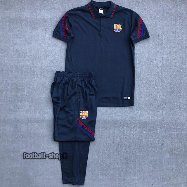 پولوشرت شلوار بارسلونا سرمه ای +A اریجینال 2021-Nike