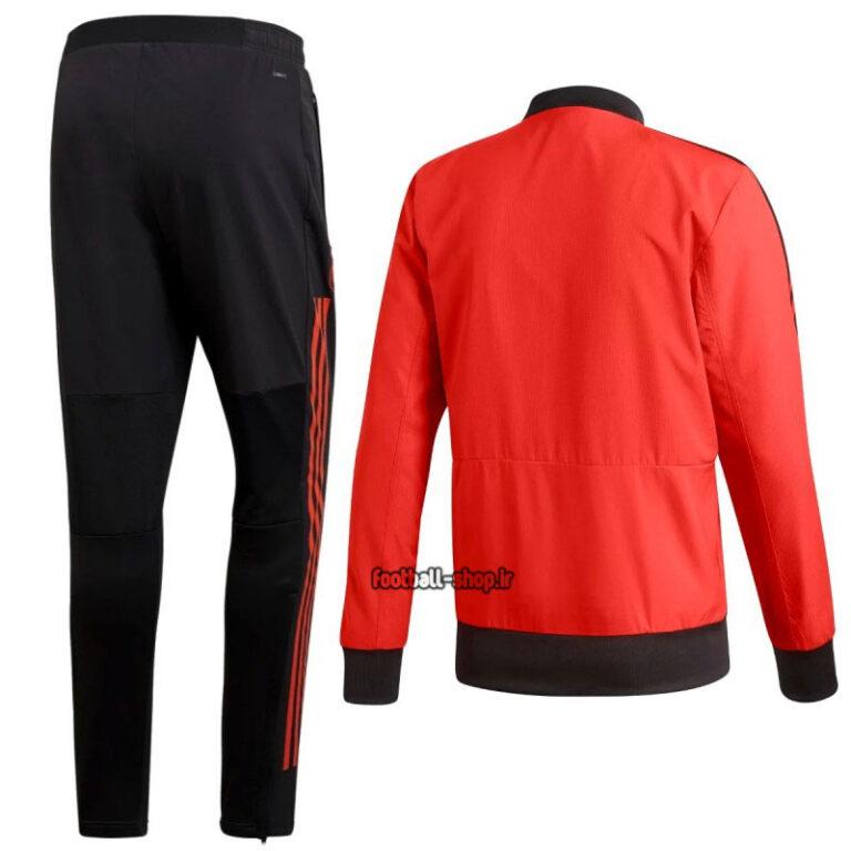ست گرمکن شلوار قرمزمشکی رئال مادرید +A اریجینال-Adidas