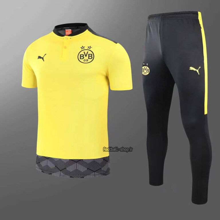 پولوشرت شلوار دورتموند زرد و مشکی +A اریجینال 2022-Puma