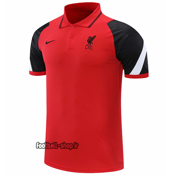 پولوشرت شلوار لیورپول قرمز مشکی +A اریجینال 2022-Nike