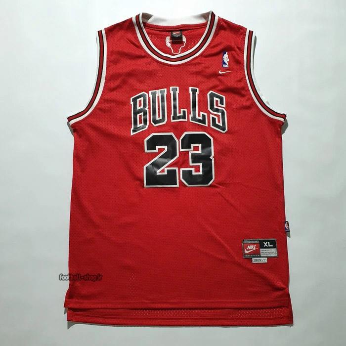 رکابی بسکتبال شیکاگوبولز 2021 قرمز| مایکل جردن 23,NBA JERSEY اصل NIKE