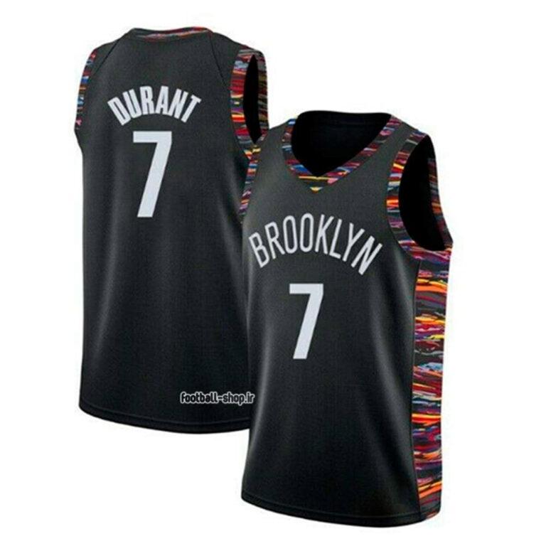 رکابی و شورت بسکتبال بروکلین نتس مشکی| کوین دورانت 7,اصل سوزنی