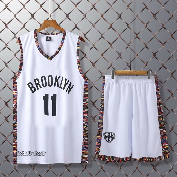 رکابی و شورت بسکتبال بروکلین نتس سفید| اروینگ 11,سوپرسوزنی
