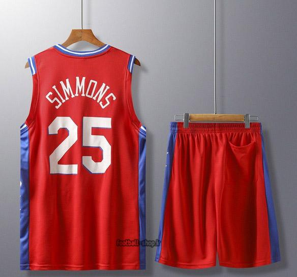 رکابی و شورت بسکتبال فیلادلفیا قرمز | سیمونز 25 ,سوپرسوزنی
