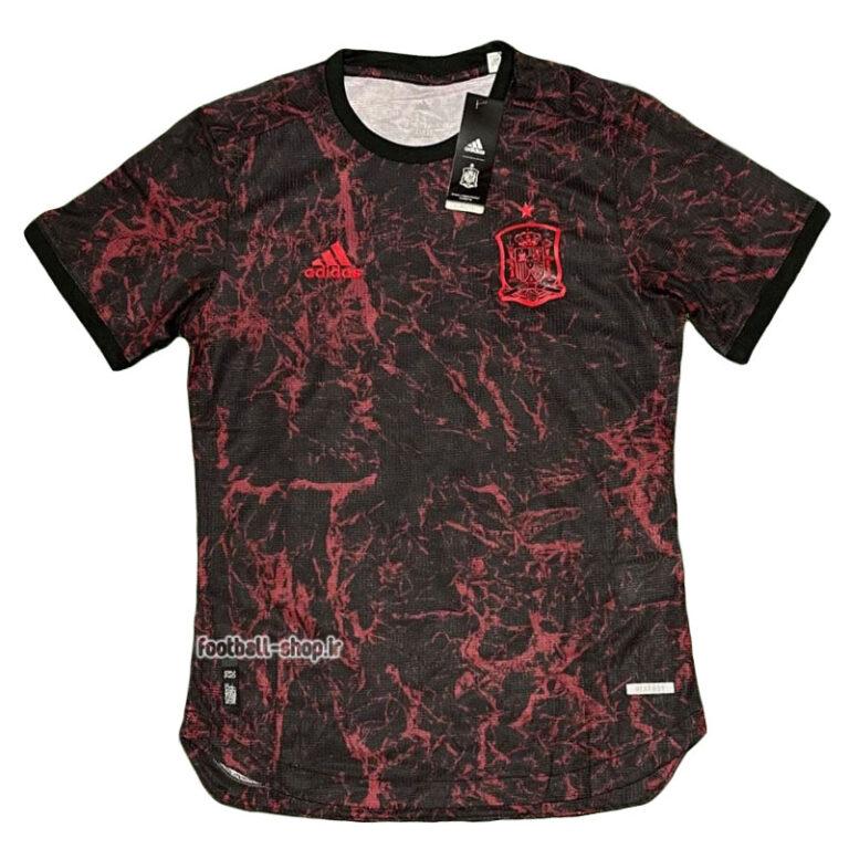 لباس هواداری اسپانیا مشکی ورژن بازیکن +A یورو 2020-Adidas