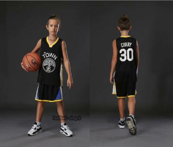 سا بسکتبال +A (بچه گانه) مشکی گلدن استیت  استیفن کری 30