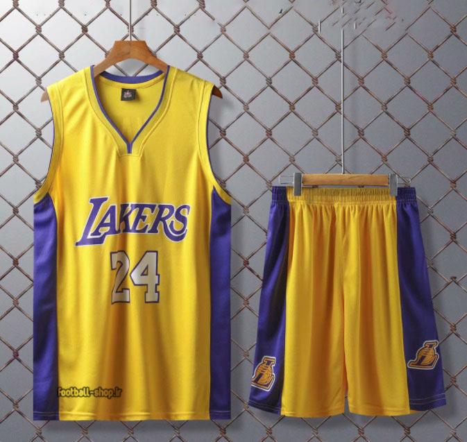 ست بسکتبال لیکرز زرد  کوبی برایانت 24#اصل سوپرسوزنی