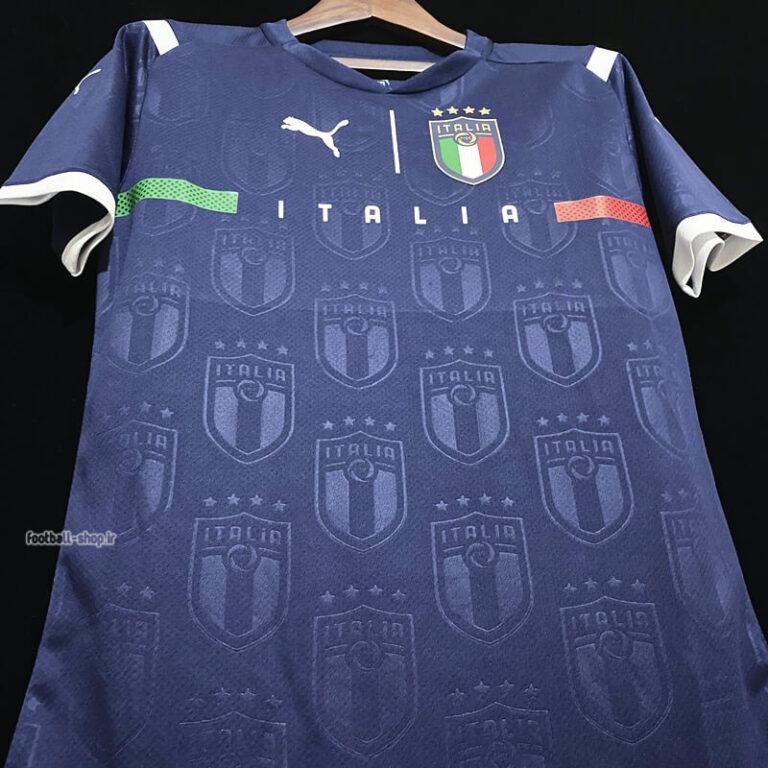 لباس گلری سرمه ای ایتالیا ورژن بازیکن +A یورو 2020-Puma
