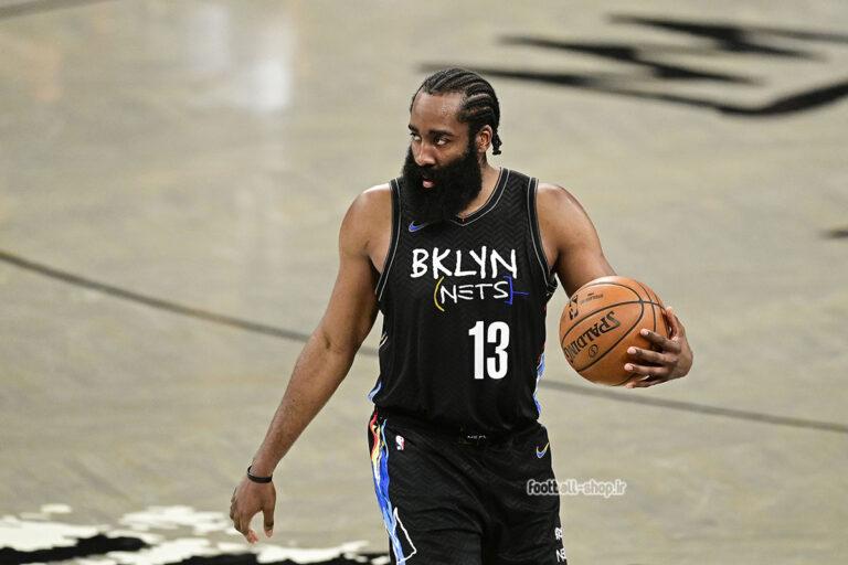 رکابی بسکتبال بروکلین 2021 مشکی| جیمز هاردن 13,NBA JERSEY اصل NIKE