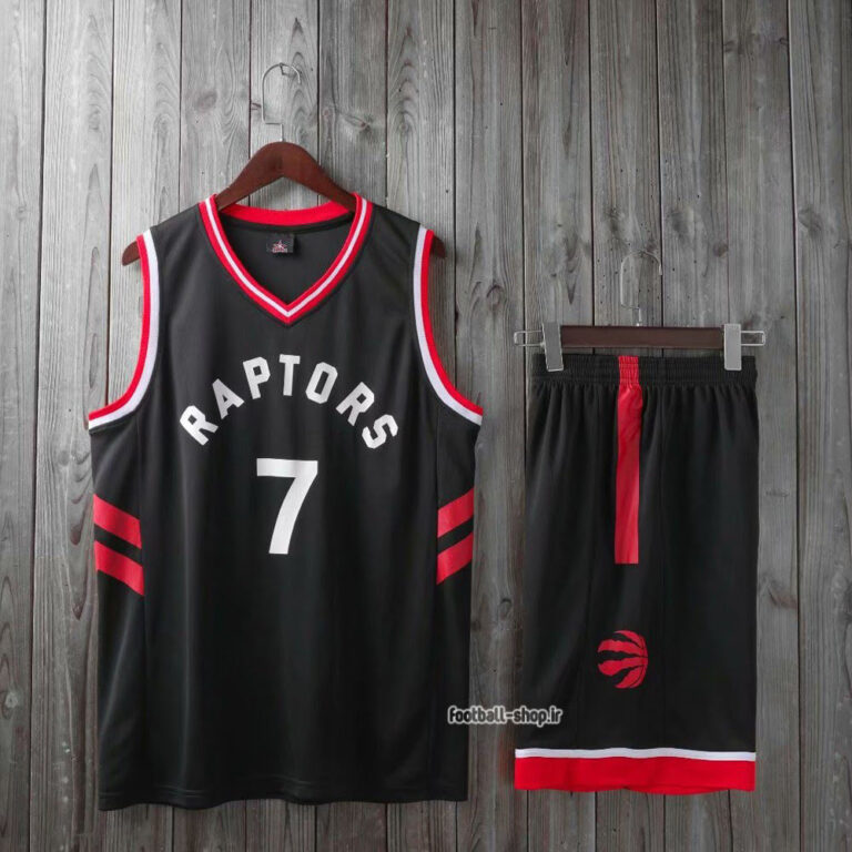 ست بسکتبال تورنتو رپترز مشکی  لاوری 7#,سوپر سوزنی