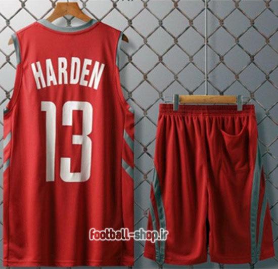 رکابی و شورت بسکتبال هیوستون راکتس قرمز  جیمز هاردن 13,سوپرسوزنی