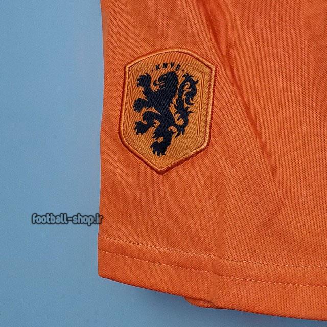 لباس و شورت اول هلند 2022 اریجینال +A بچگانه-Nike